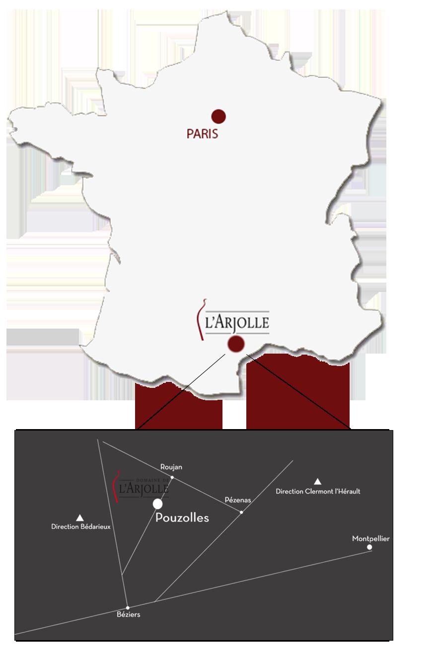 Carte situation domaine de l'ARJOLLE